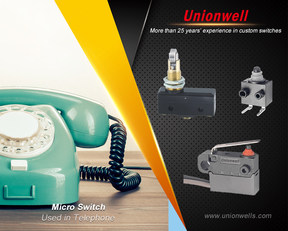 Variety of microswitches from china unionwell micro switches manufacturer
