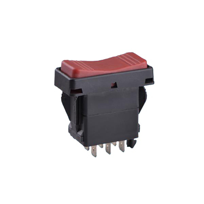 Red Push Button Six Pins Rocker Switch